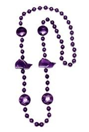36in Metallic Purple Baseball Beads