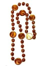 33in Metallic Orange Number 1 Basketball Beads