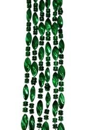 23mm 42in Green Twist Beads