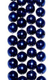 14mm 48in Metallic Blue Beads