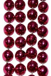16mm 72in Hot Pink Metallic Beads