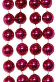 10mm 33in Metallic Hot Pink Beads