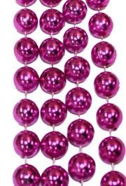 72in 18mm Metallic Hot Pink Beads