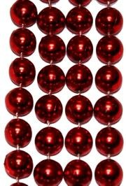 72in 18mm Round Metallic Red Beads