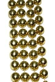 10mm 42in Metallic Gold Beads