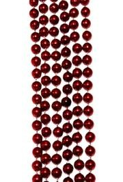 7mm 42in Metallic Red Beads