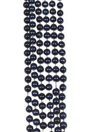 7mm 33in Metallic Navy Blue Mardi Gras Beads