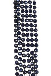 7mm 33in Metallic Navy Blue Mardi Gras Beads