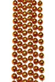 7mm 33in Metallic Orange Mardi Gras Beads