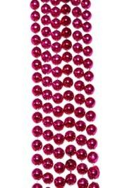 7mm 33in Hot Pink Mardi Gras Beads