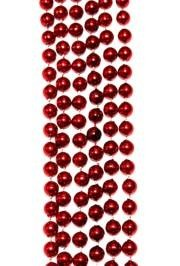 7mm 33in Metallic Red Beads