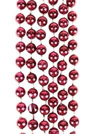 7mm 33in Round Burgundy Beads