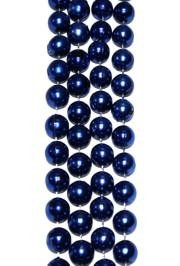 12mm 72in Metallic Blue Beads