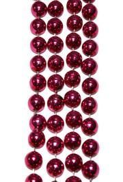 12mm 72in Metallic Hot Pink Beads