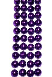12mm 72in Metallic Purple Beads