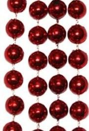 10mm 33in Metallic Red Beads