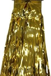 29in x 14ft Metallic Gold Fringe Table Skirt
