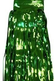 29in x 14ft Metallic Green Fringe Table Skirt
