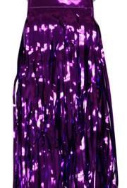 29in x 14ft Metallic Purple Fringe Table Skirt
