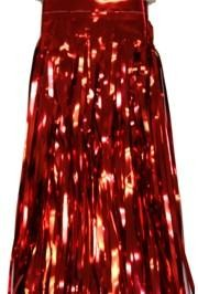 Metallic Red Fringe Table Skirt