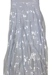 29in x 14ft Metallic White Fringe Table Skirt