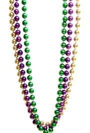 60in 22mm Round Metallic Purple/ Green/ Gold Beads