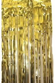 3ft Wide x 8ft Tall Metallic Gold Door Curtain