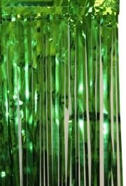 3ft Wide x 8ft Tall Metallic Green Door Curtain