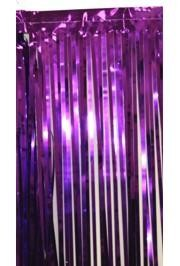 3ft Wide x 8ft Tall Metallic Purple Door Curtain