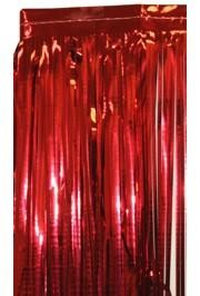 3ft Wide x 8ft Tall Metallic Red Door Curtain