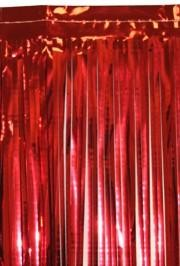 10ft x 15in Metallic Red Fringe