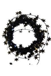 Metallic Black Star Wire Garland