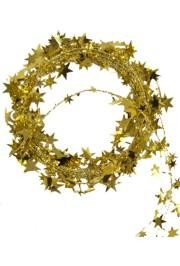 18ft Met Gold Star Wire Garland
