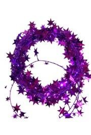 Metallic Purple Star Wire Garland