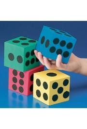 Assorted Color Foam Playing Dice