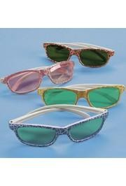 4 3/4in Child Size Plastic Crackle Print Sunglasses
