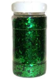 8oz Green Chunky Glitter