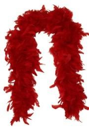 Red Feather Boas