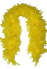 Yellow Feather Boas