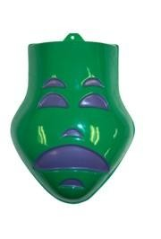 9in x 11in Green Tragedy Face Wall Masks