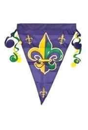 12in x 18in Nylon Fleur-De-Lis Garden Flag
