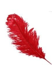 25-26in Red Ostrich Plumes/ Feathers