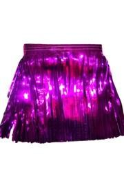 60ft x 12in Purple Metallic Fringe