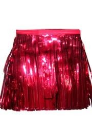 60ft x 12in Red Metallic Fringe