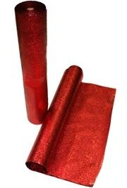 25in x 75 Feet Long Metallic Red Cracked Ice Rolls Float Decoration