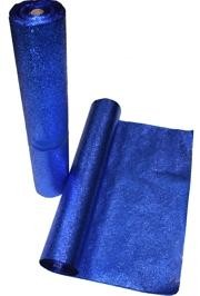 25in x 75 Feet Long Metallic Blue Cracked Ice Rolls Float Decoration