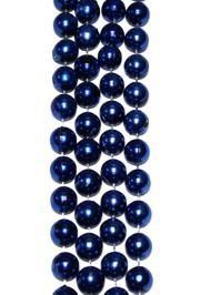 12mm 48in Metallic Blue Beads