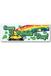 60in x 21in Happy Saint Patricks Day Sign Banner