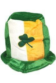 8 1/4in Tall Irish Shamrock Top Hat
