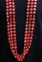 12mm 48in Red Heart Beads